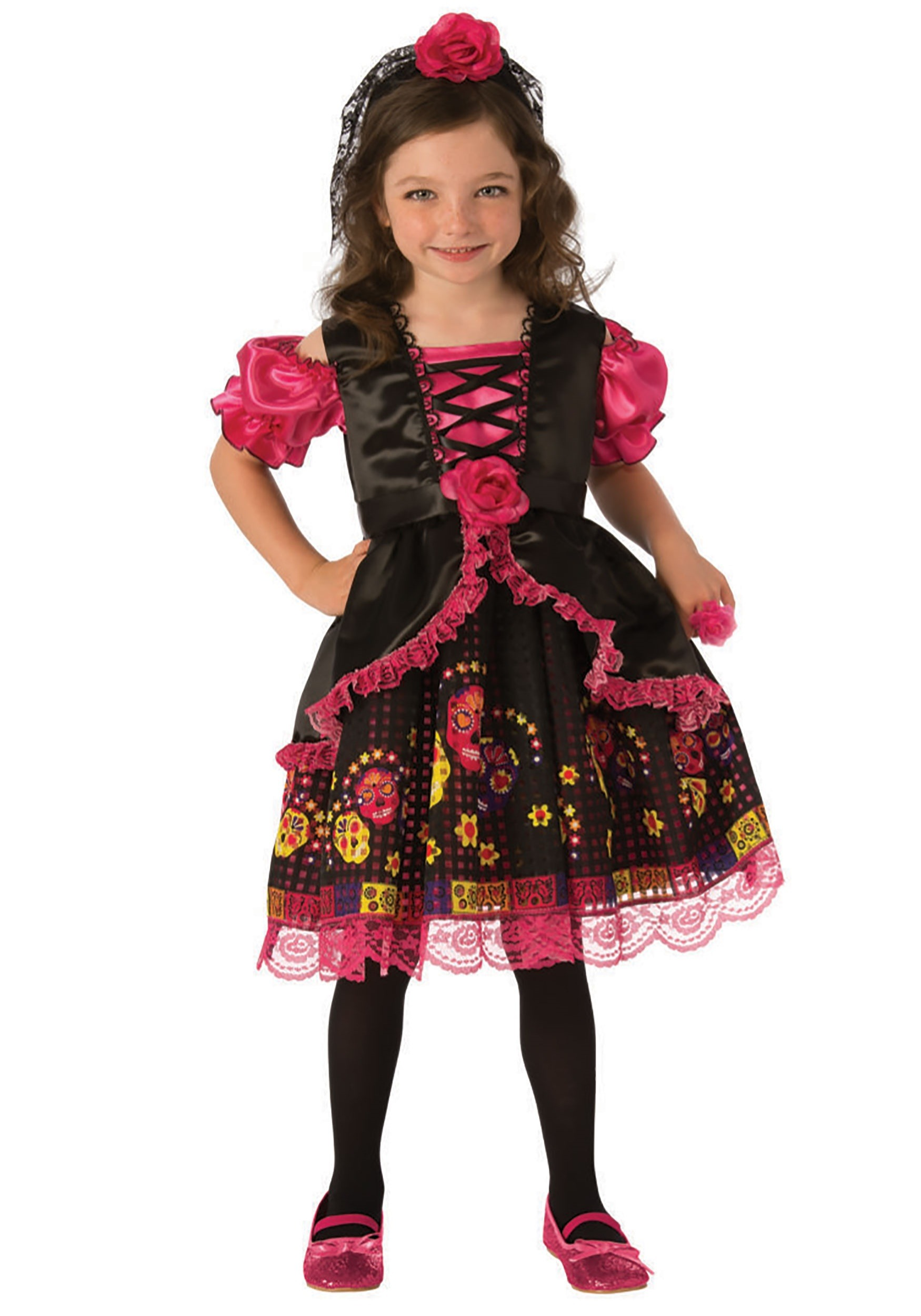 Day of the Dead Girl's Costume Dress