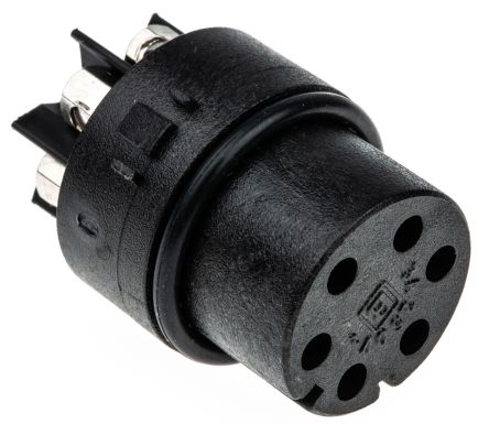Bulgin Female Connector Insert 6 Way for use with Mini Buccaneer Connector