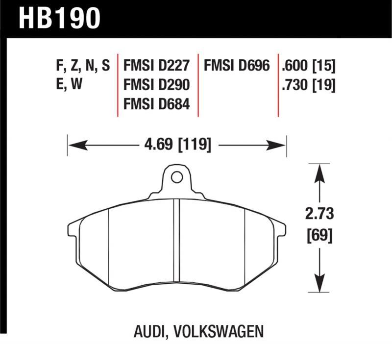 Hawk Performance HB190F.600 Disc Brake Pad Front