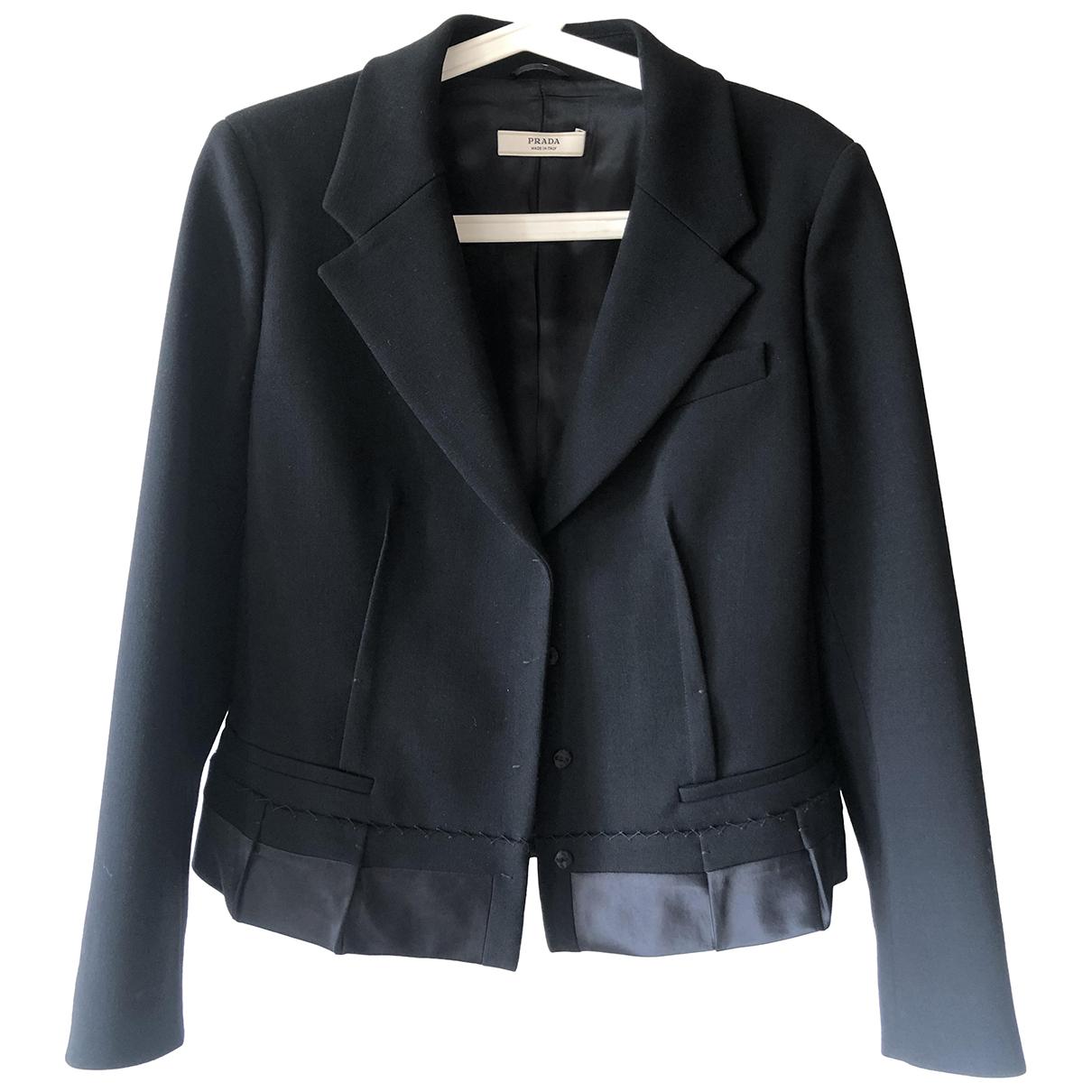 Prada - Veste   pour femme en laine - noir