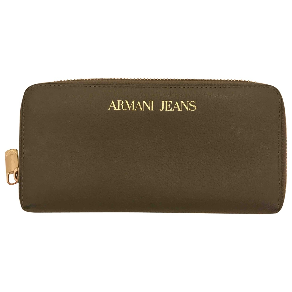 Armani Jeans \N Portemonnaie in  Grau Leder