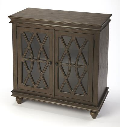 Lansing Collection 9398403 2 Door Accent Cabinet with Transitional Style  Rectangular Shape  Medium Density Fiberboard (MDF) and Rubberwood Solids in