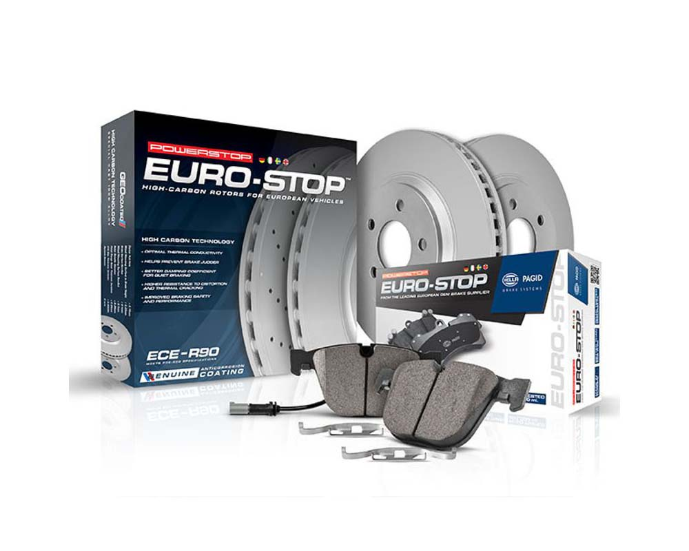 Power Stop ESK7977 Euro-Stop Brake Kit Front Mini Cooper 2014-2016