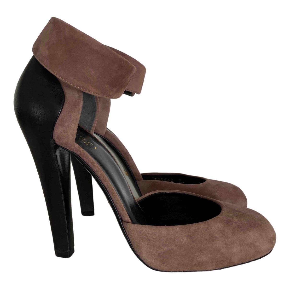 Gucci \N Pink Suede Heels for Women 36.5 EU
