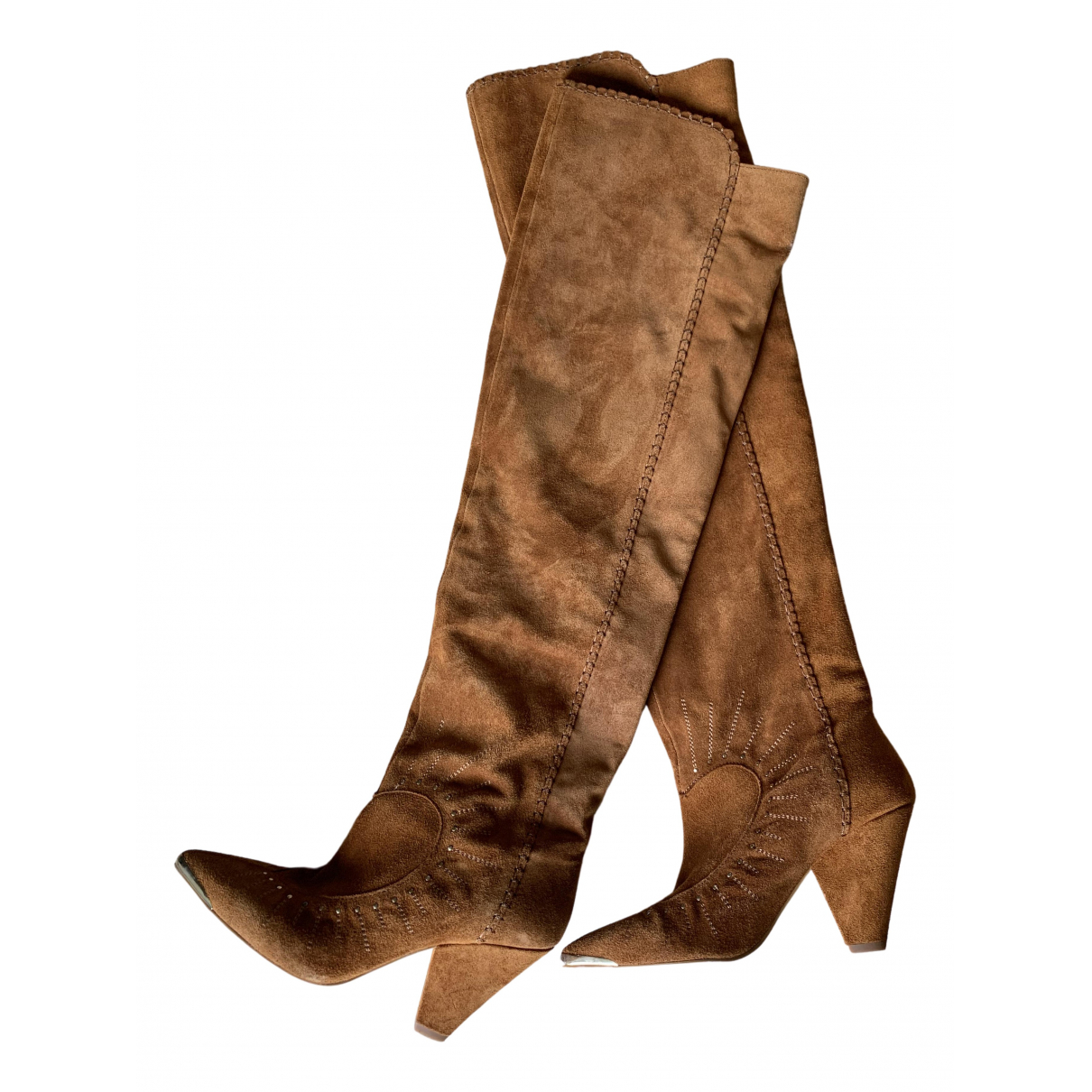 Non Signé / Unsigned \N Camel Leather Boots for Women 38 EU