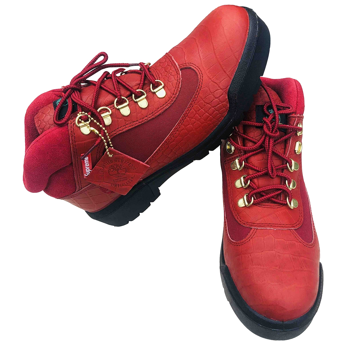 Supreme X Timberland \N Stiefel in  Rot Leder