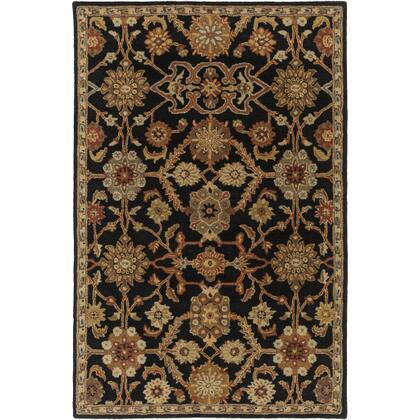 AWMD2073-913 9' x 13' Rug  in Black and Rust and Olive and Camel and Tan and