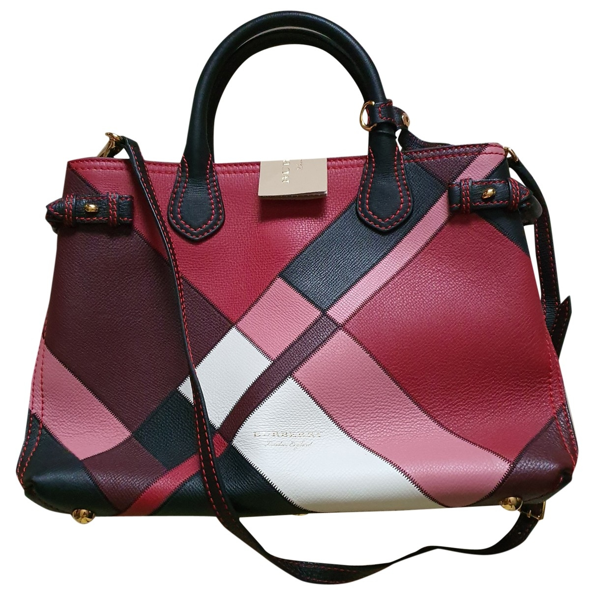 Burberry The Banner  Pink Leather handbag for Women \N