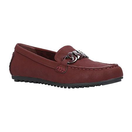 Easy Street Womens Darice Slip-On Shoe, 11 Wide, Red