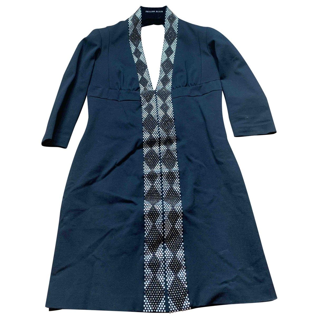 Philipp Plein \N Kleid in  Silber Baumwolle