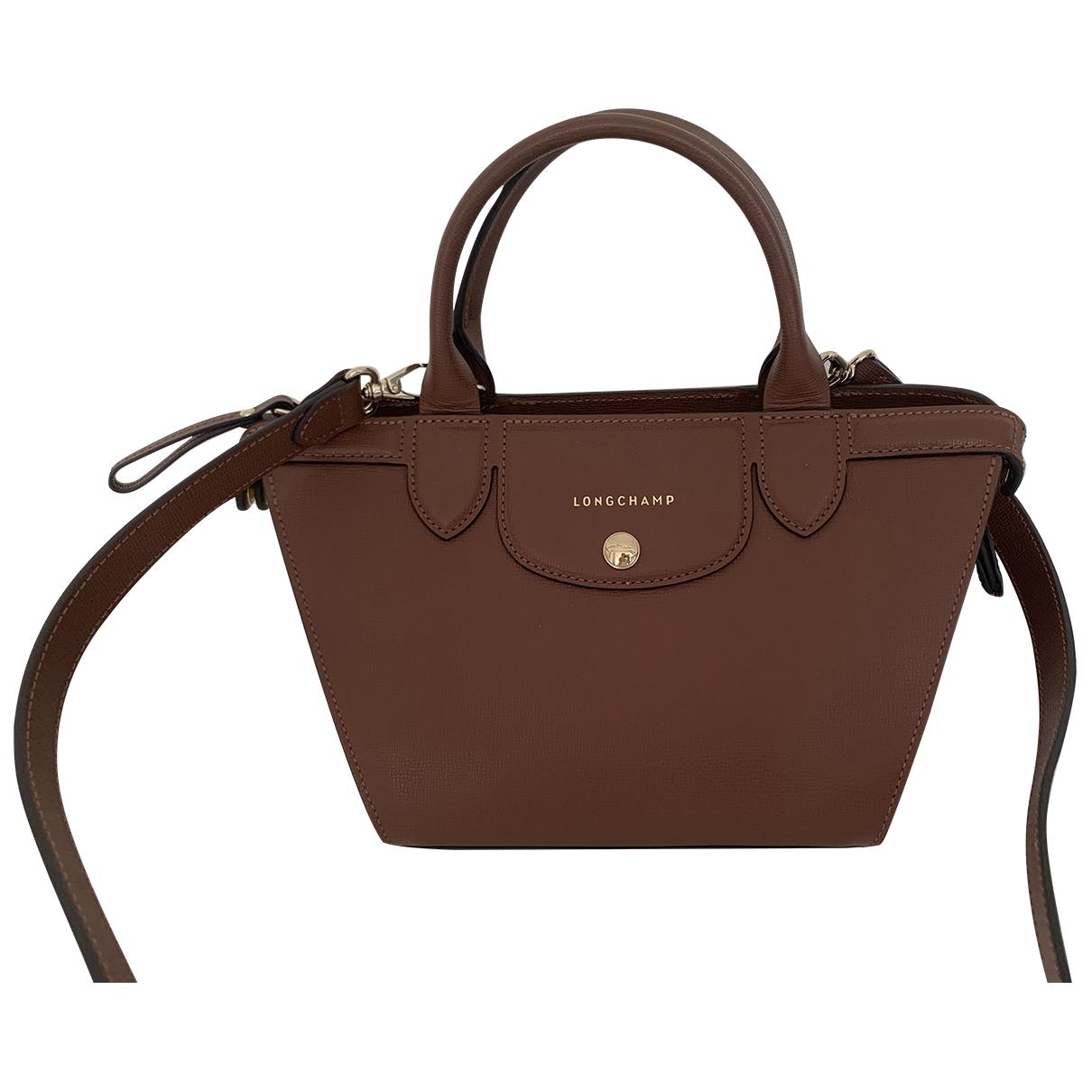 Longchamp Pliage  Handtasche in  Braun Leder