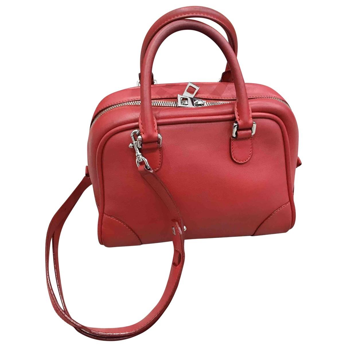 Loewe Amazona 75  Red Leather handbag for Women \N