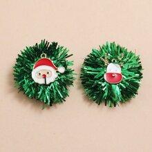 Pendientes de tachuela con diseño de Papa Noel de Navidad