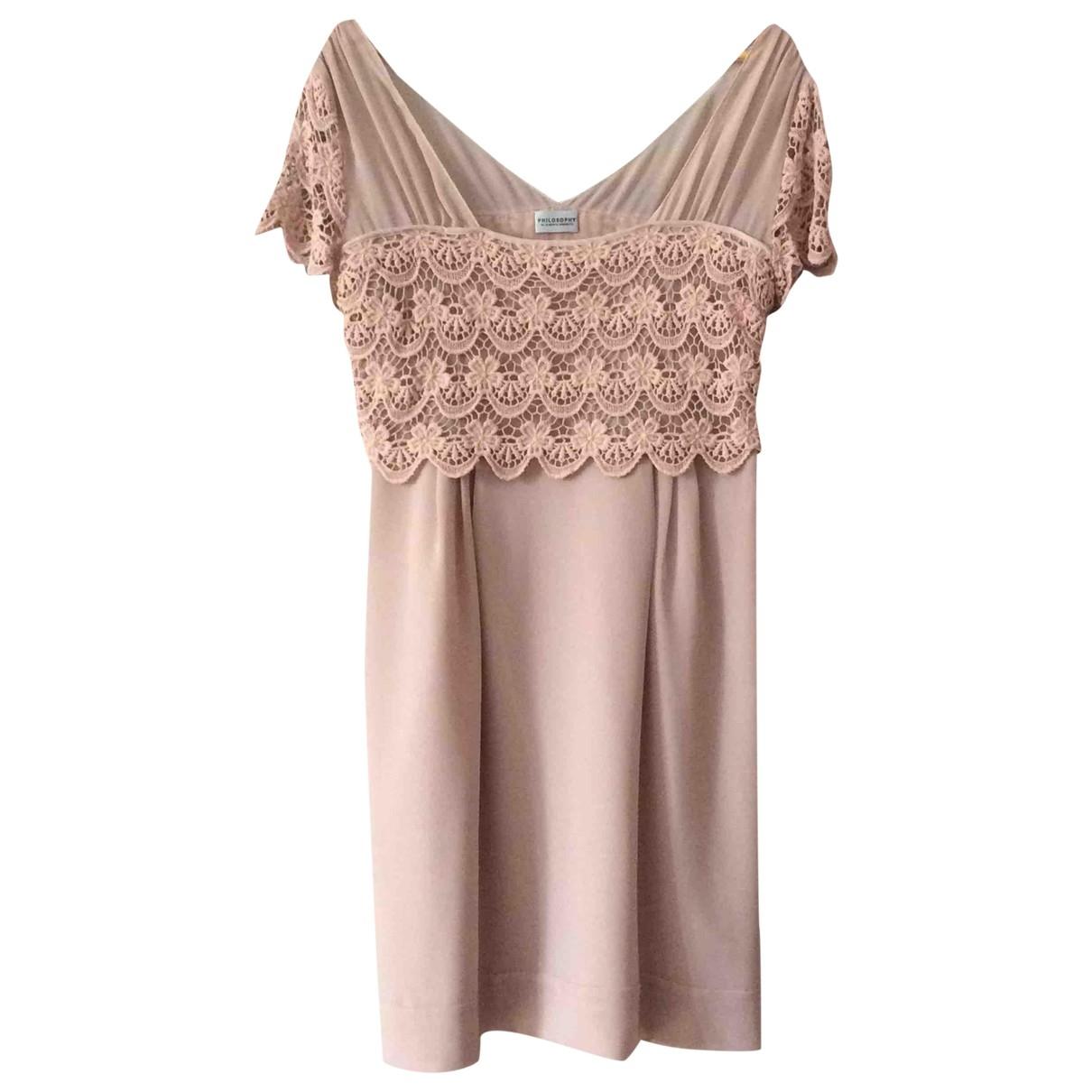 Philosophy Di Alberta Ferretti \N Kleid in  Rosa Polyester