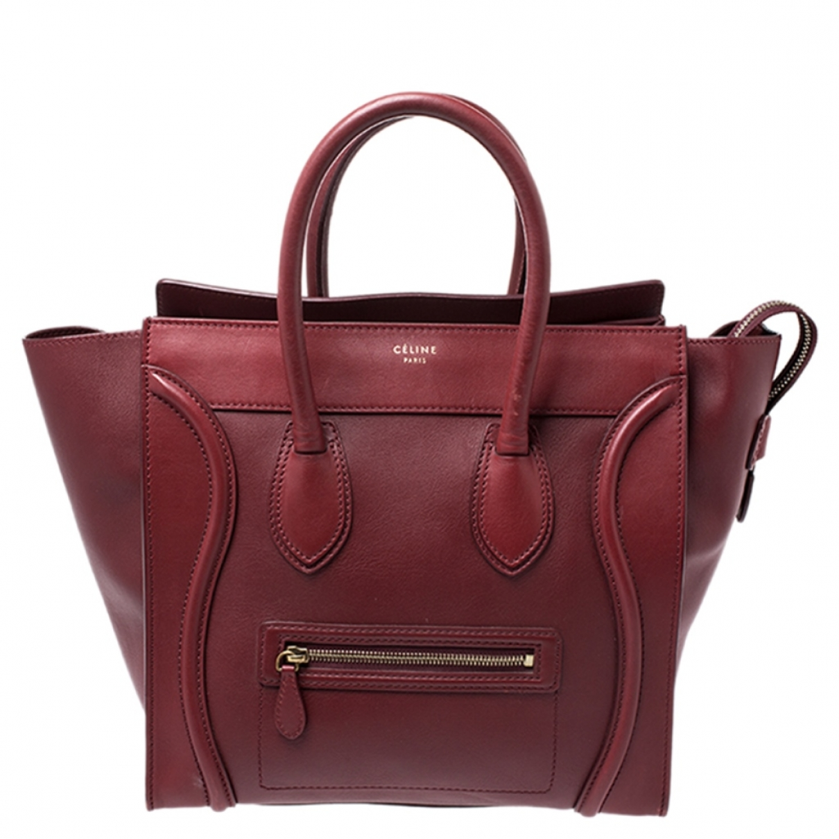 Celine Luggage Red Leather handbag for Women \N