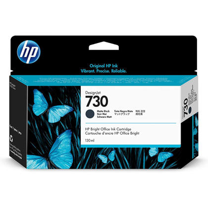 HP 730 P2V65A Original Matte Black Ink Cartridge 130ml