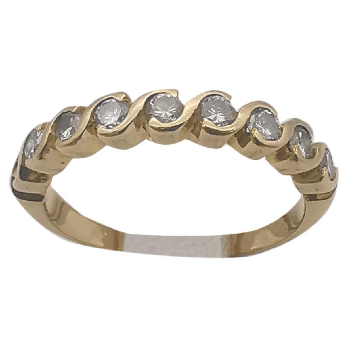- Bague Alliance pour femme en or jaune - dore