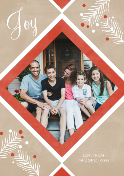 Christmas Photo Cards 5x7 Cards, Premium Cardstock 120lb with Elegant Corners, Card & Stationery -Joy