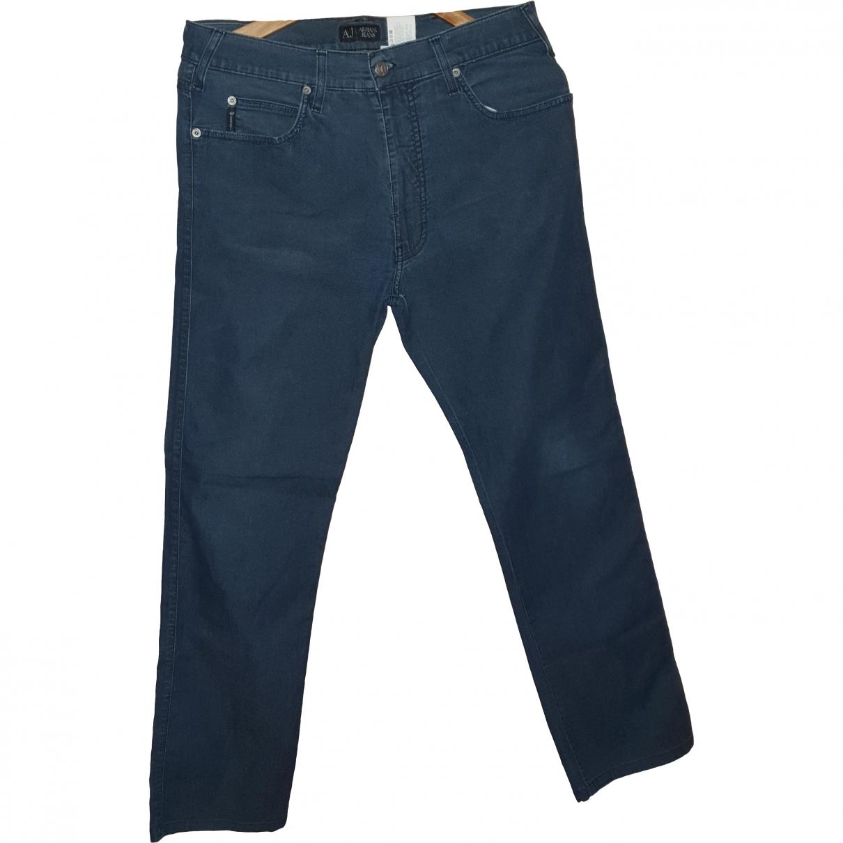 Armani Jeans \N Blue Cotton Jeans for Men 33 US