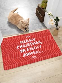 Weihnachten Slogan Print Bodenmatte