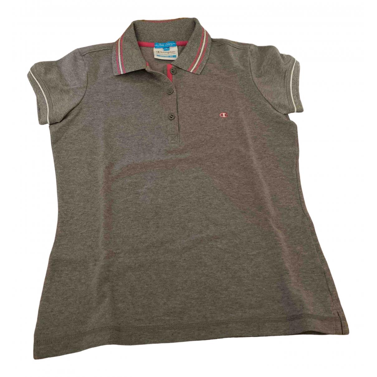 Champion - Top   pour femme en coton - gris