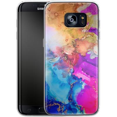 Samsung Galaxy S7 Edge Silikon Handyhuelle - Cosmic Swirl III von Stella Lightheart