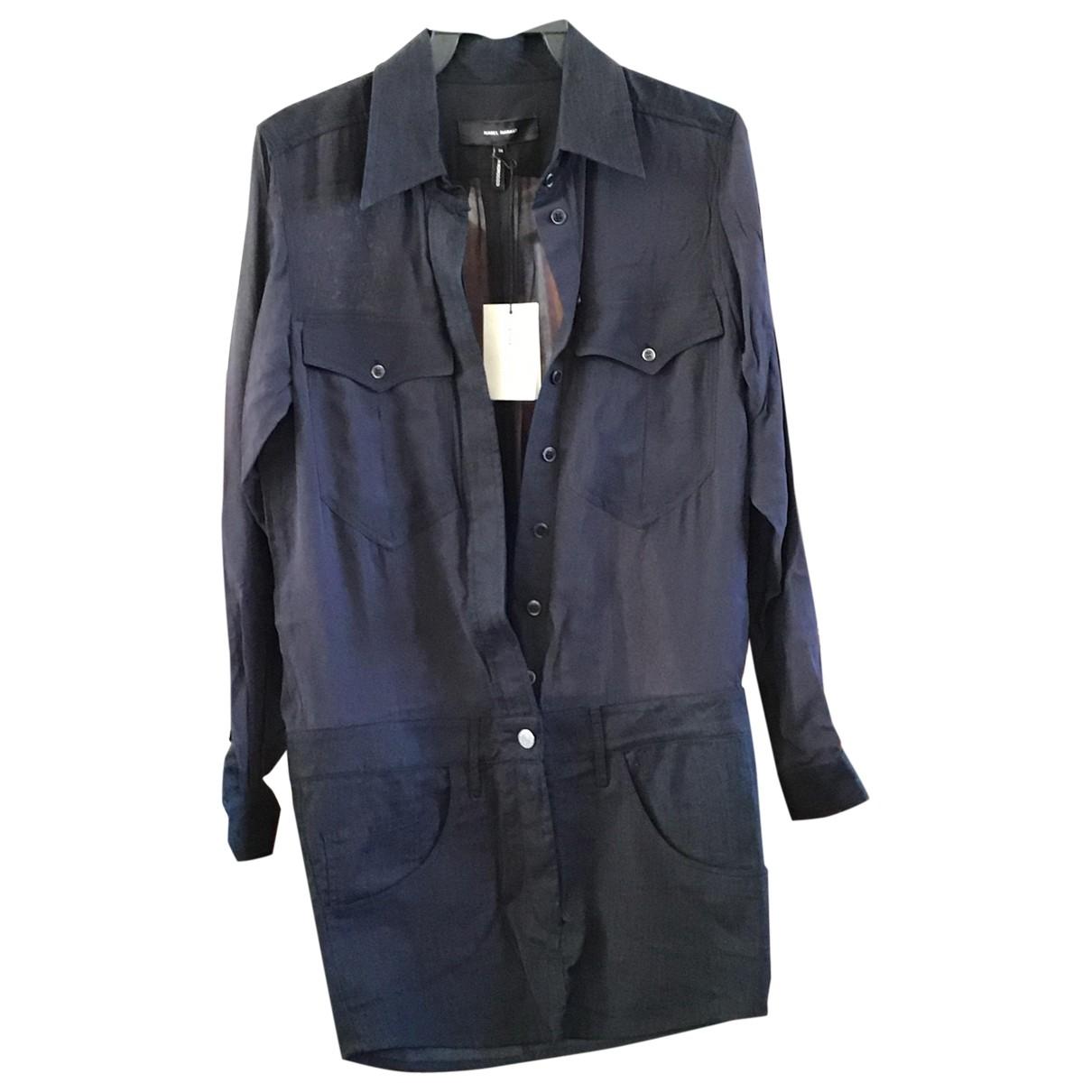 Isabel Marant Etoile \N Kleid in  Marine Baumwolle