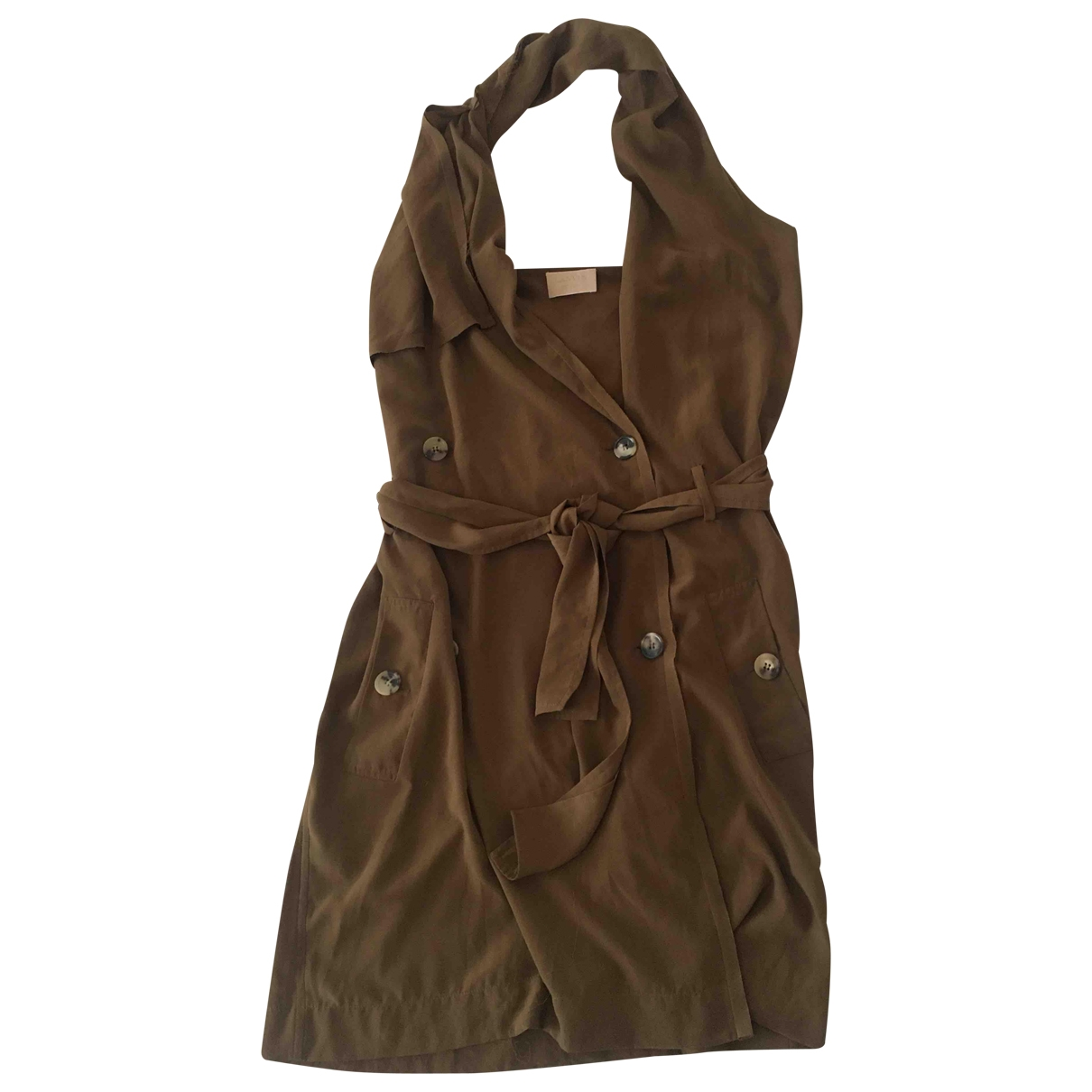 Lanvin \N Kleid in  Khaki Polyester