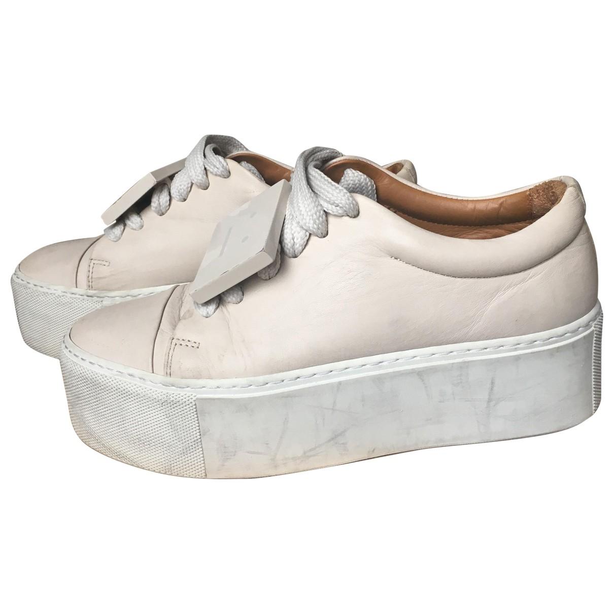 Acne Studios \N Sneakers in  Ecru Leder