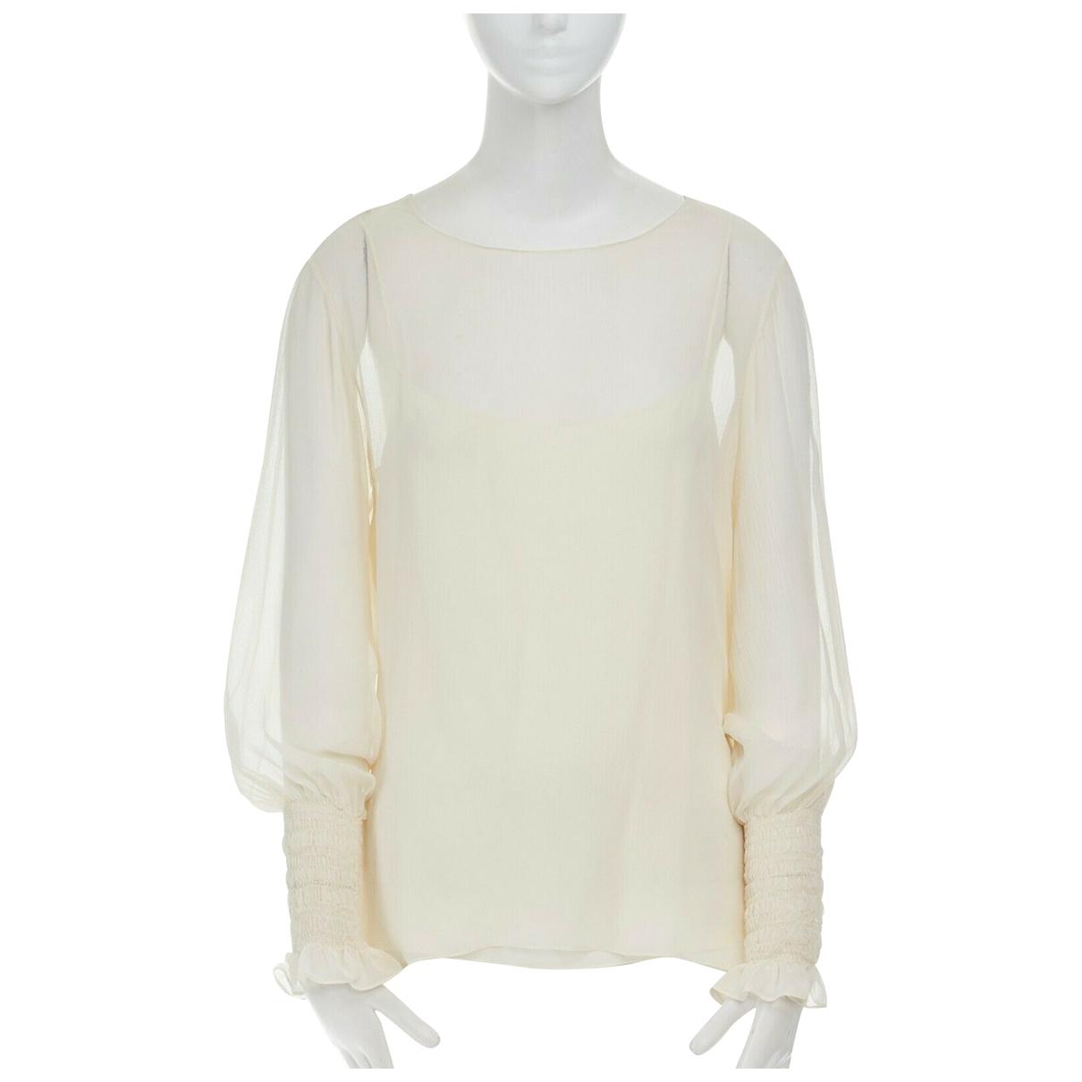The Row - Top   pour femme en soie - beige
