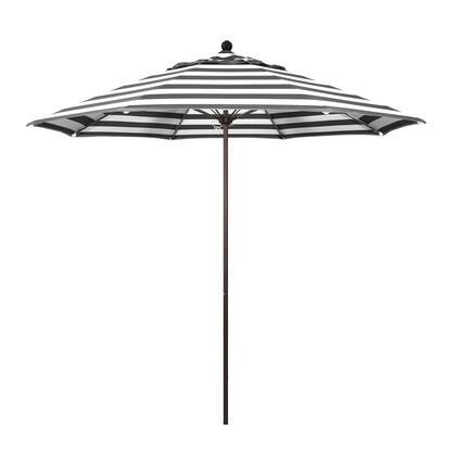 ALTO908117-58030 9' Venture Series Commercial Patio Umbrella With Bronze Aluminum Pole Fiberglass Ribs Push Lift With Sunbrella 2A Cabana Classic