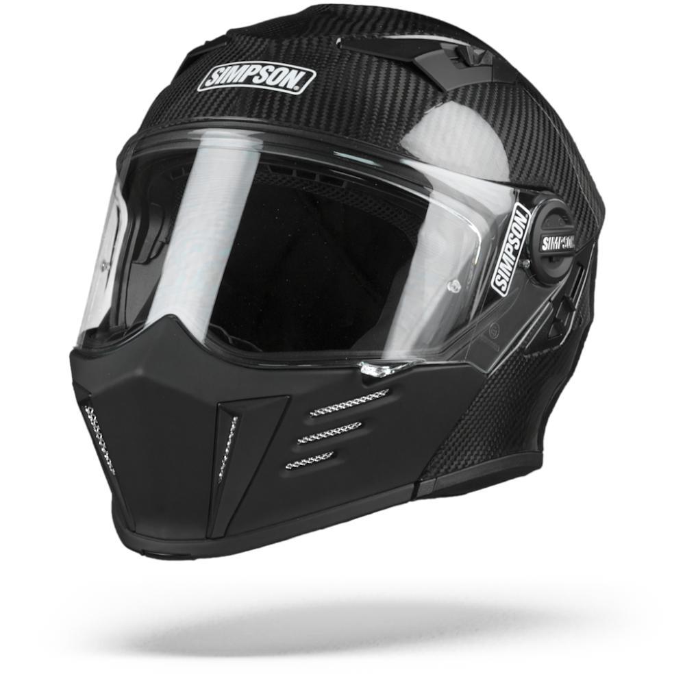 Simpson Darksome Carbon Matt Black Modular Helmet XL