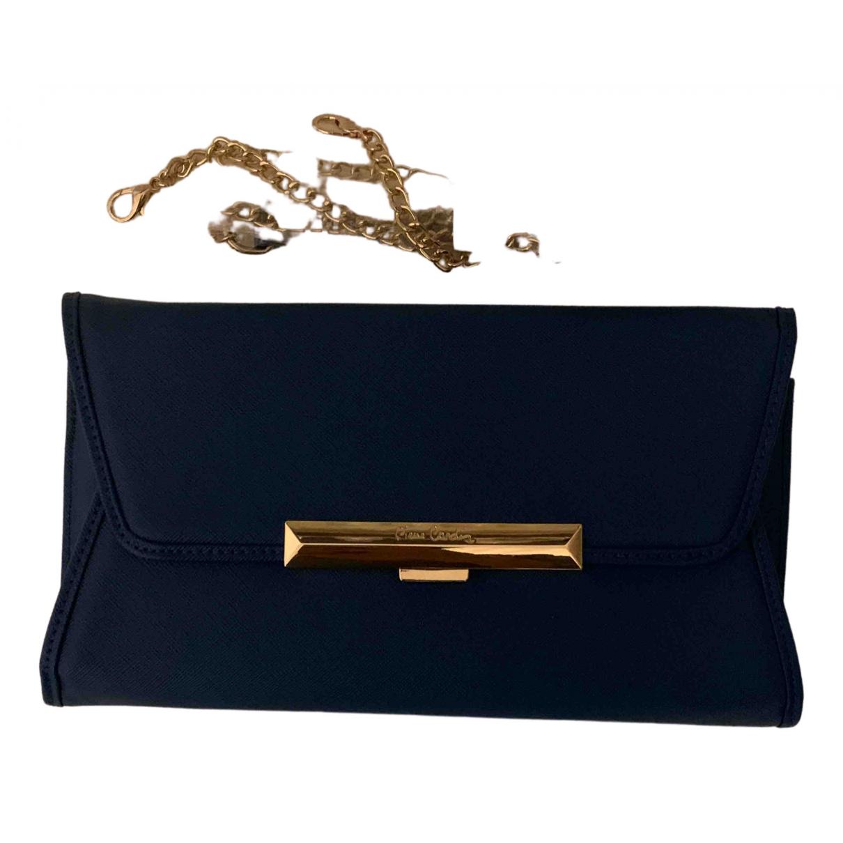 Pierre Cardin - Pochette   pour femme en cuir verni - bleu