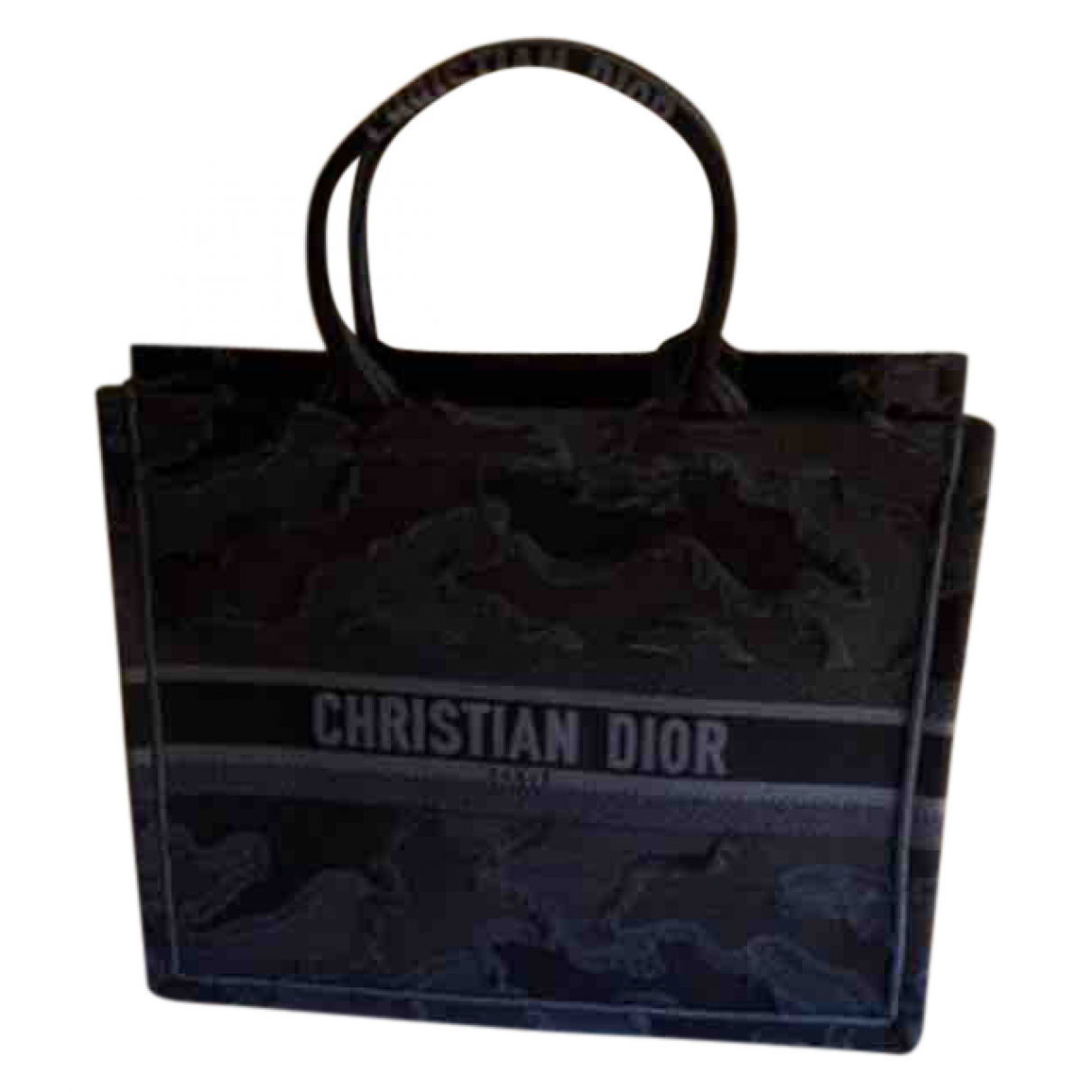 Dior Book Tote Blue Cloth handbag for Women \N
