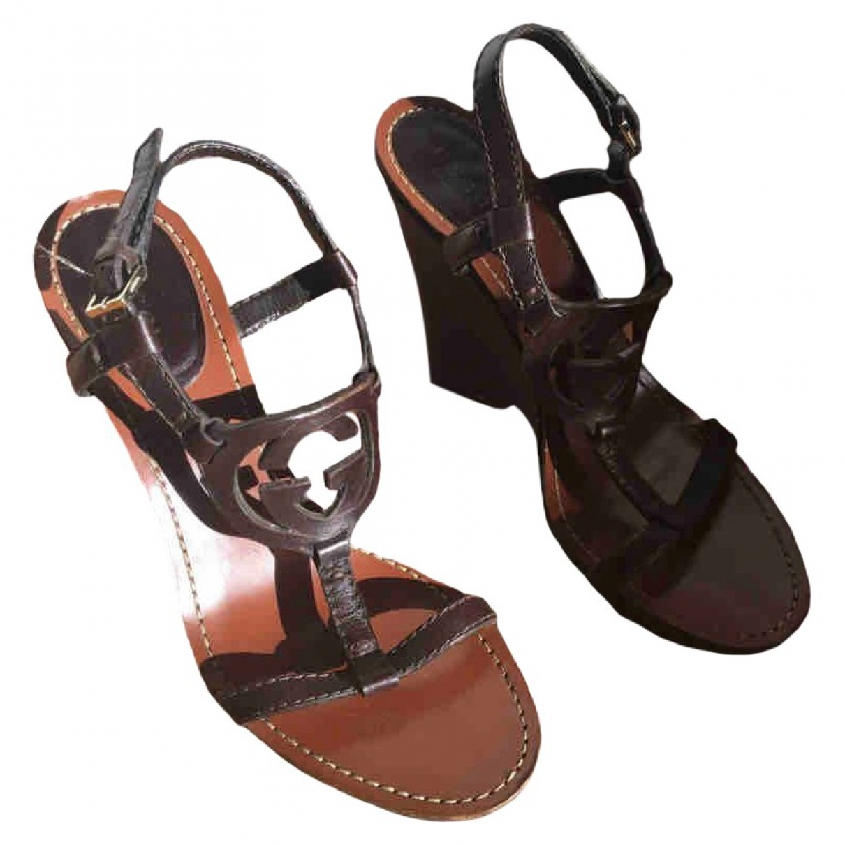 Gucci \N Brown Leather Sandals for Women 35 EU