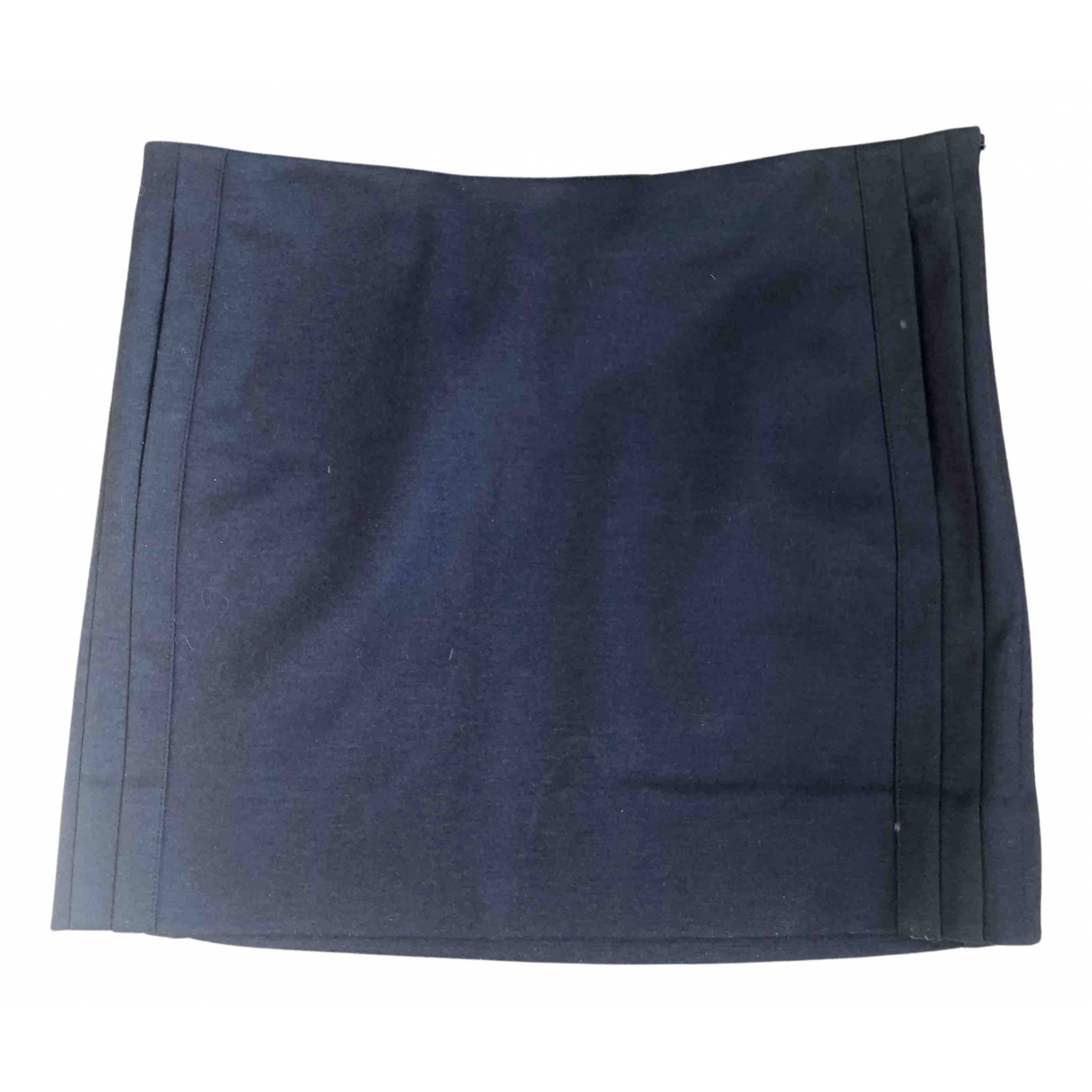 Diane Von Furstenberg N Navy Wool skirt for Women 8 US