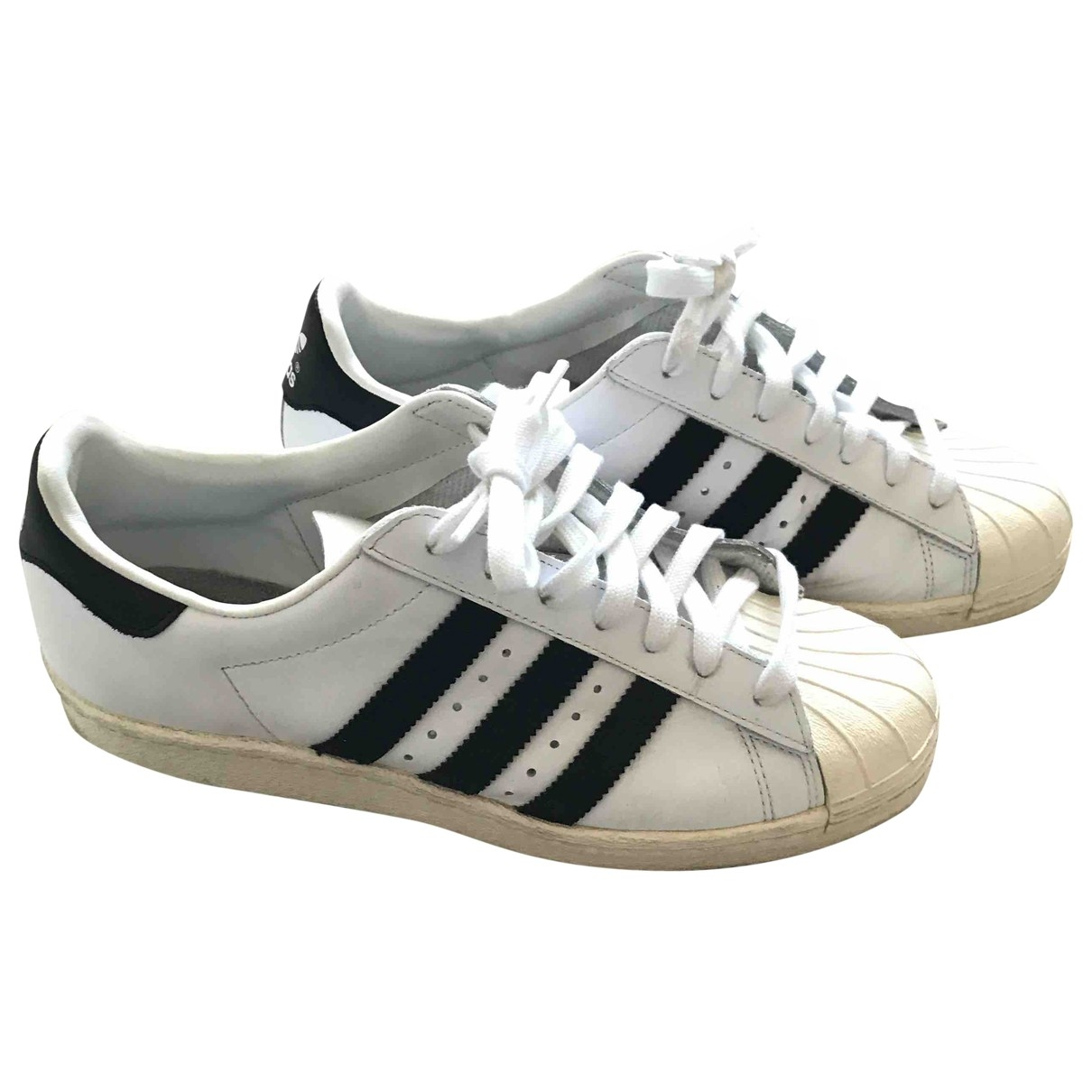 Adidas Superstar White Leather Trainers for Men 40.5 EU