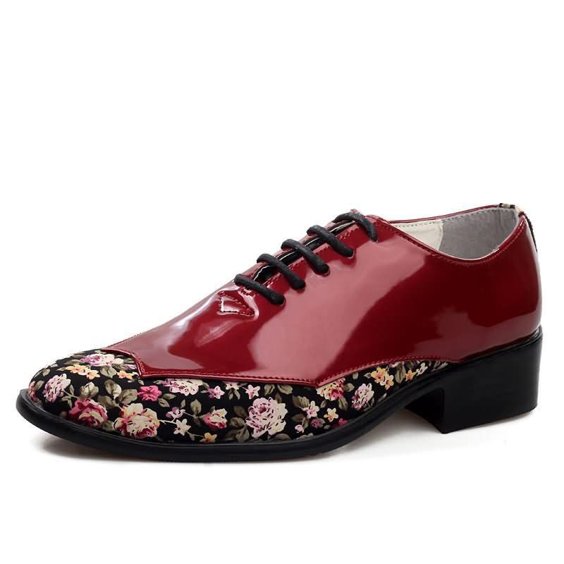 Ericdress Floral Patchwork Low-Cut Upper Men's Dress Shoes