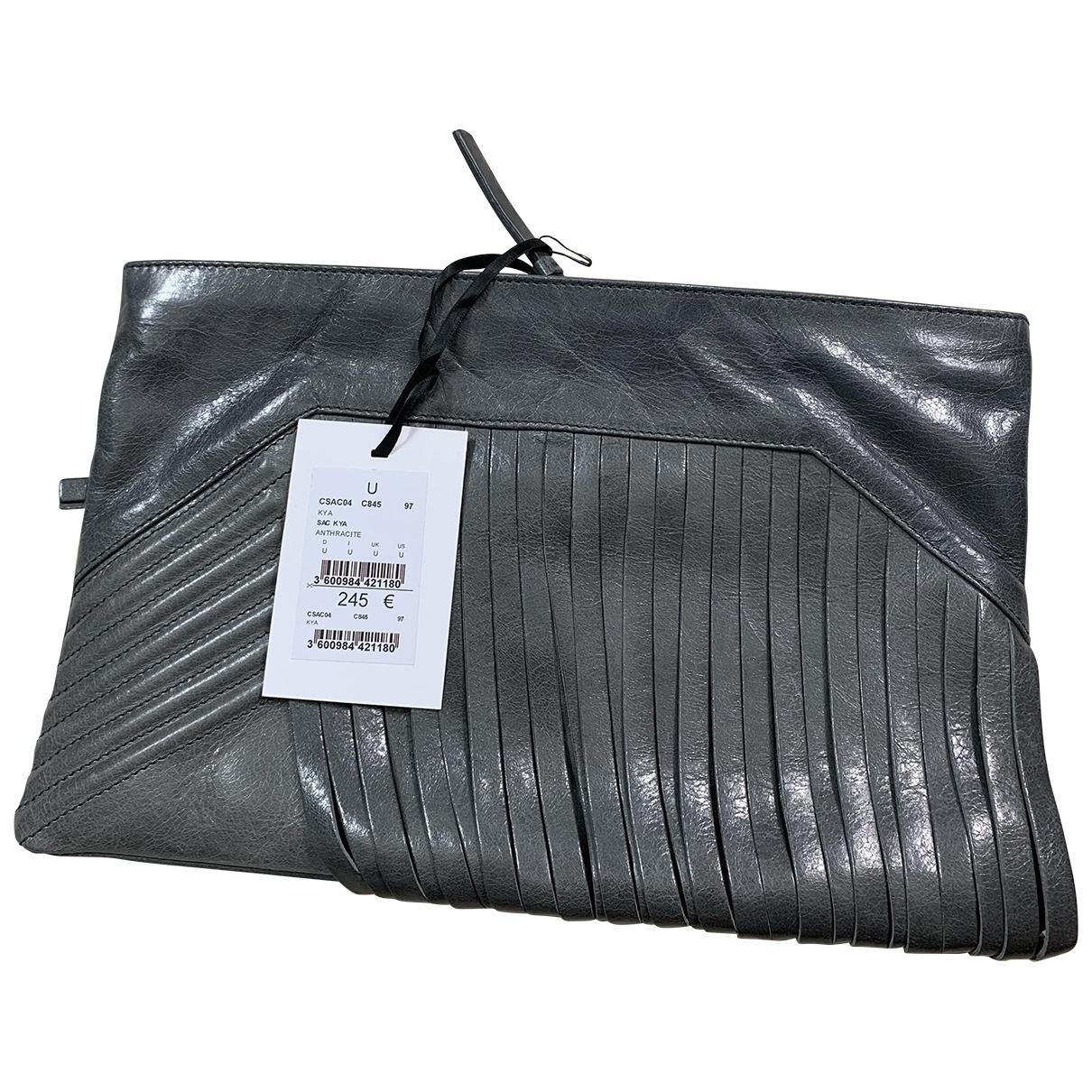 Zapa - Pochette   pour femme en cuir verni - gris