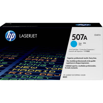 HP 507A CE401A Original Cyan Toner Cartridge