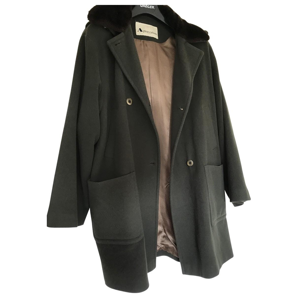 Aquascutum - Manteau   pour femme en laine - vert