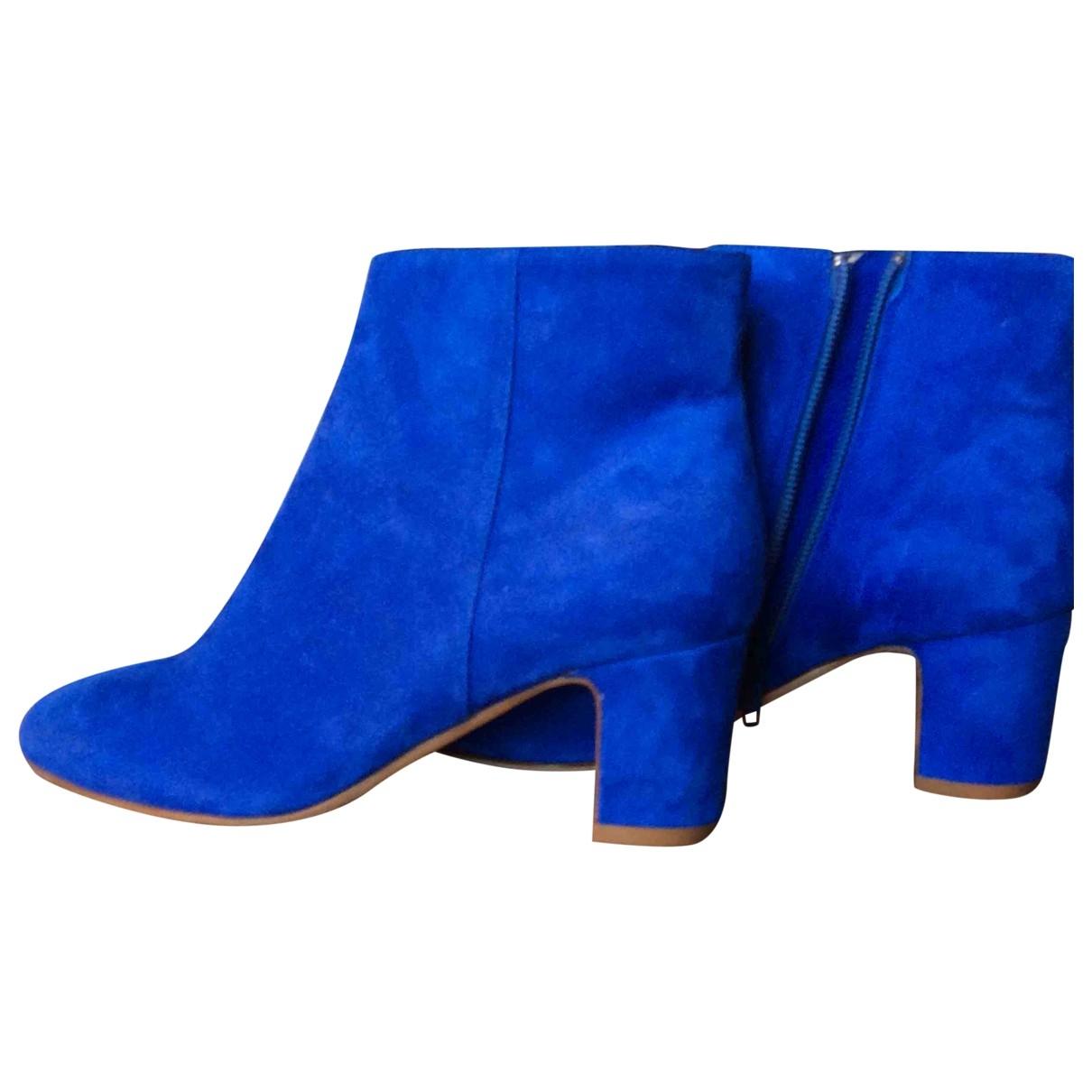Non Signe / Unsigned \N Stiefeletten in  Blau Veloursleder