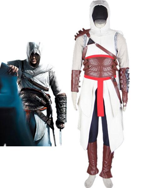 Milanoo Halloween Carnaval Inspirado por Assassins Creed Altair Halloween Cosplay Disfraz Cuero Algodon
