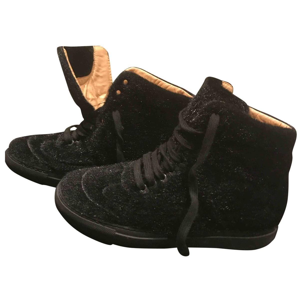Mm6 - Baskets   pour femme en a paillettes - noir