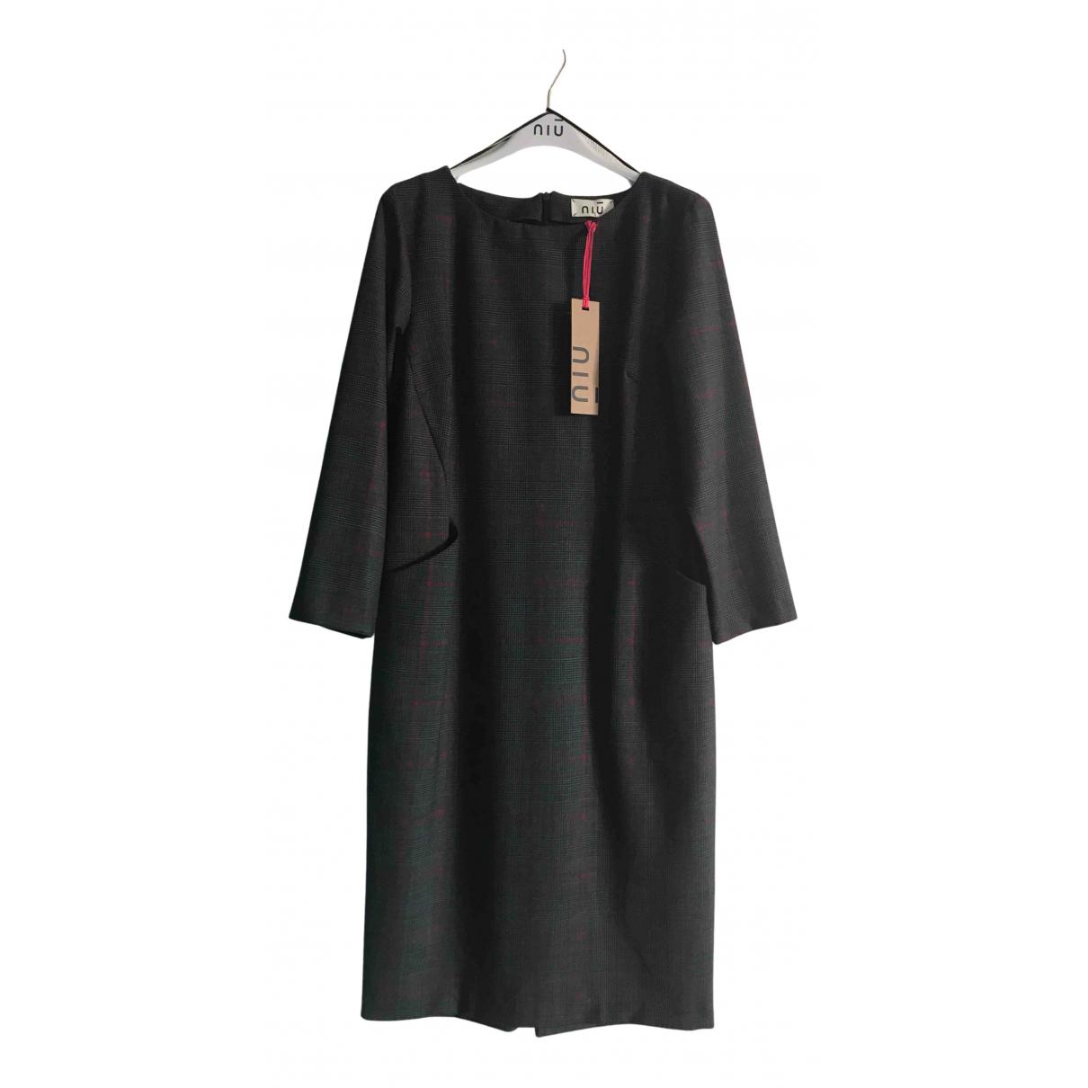 - Robe   pour femme en laine - anthracite