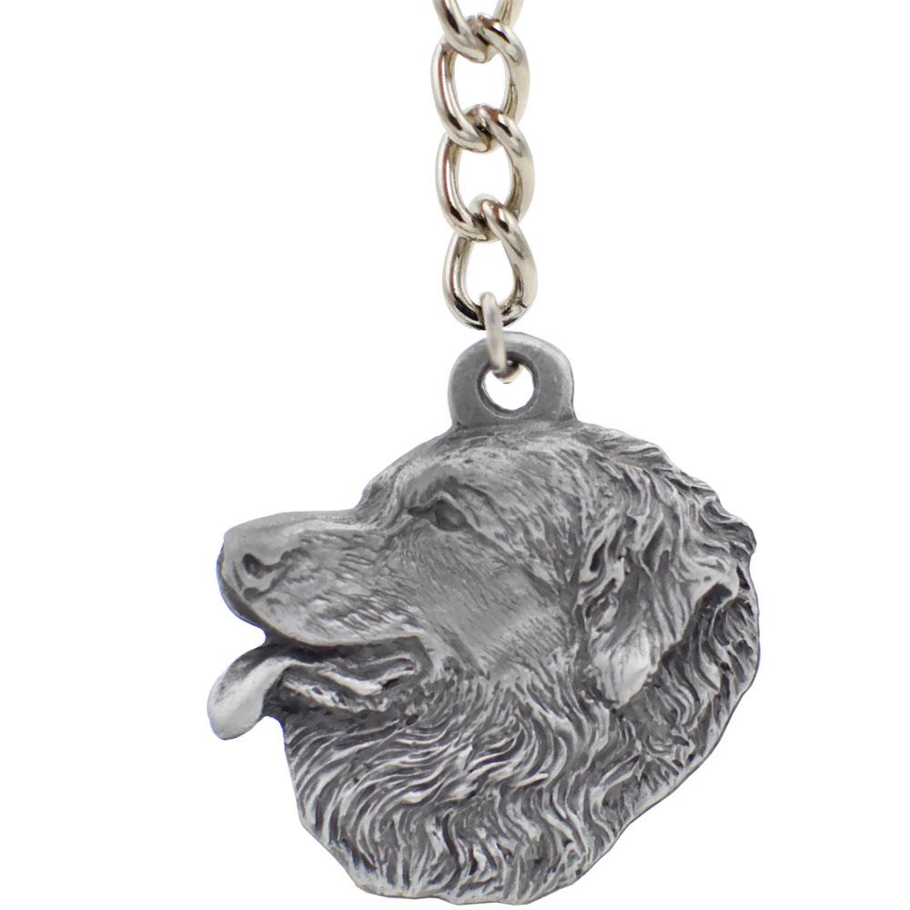 Dog Breed Keychain USA Pewter - Leonberger (2.5