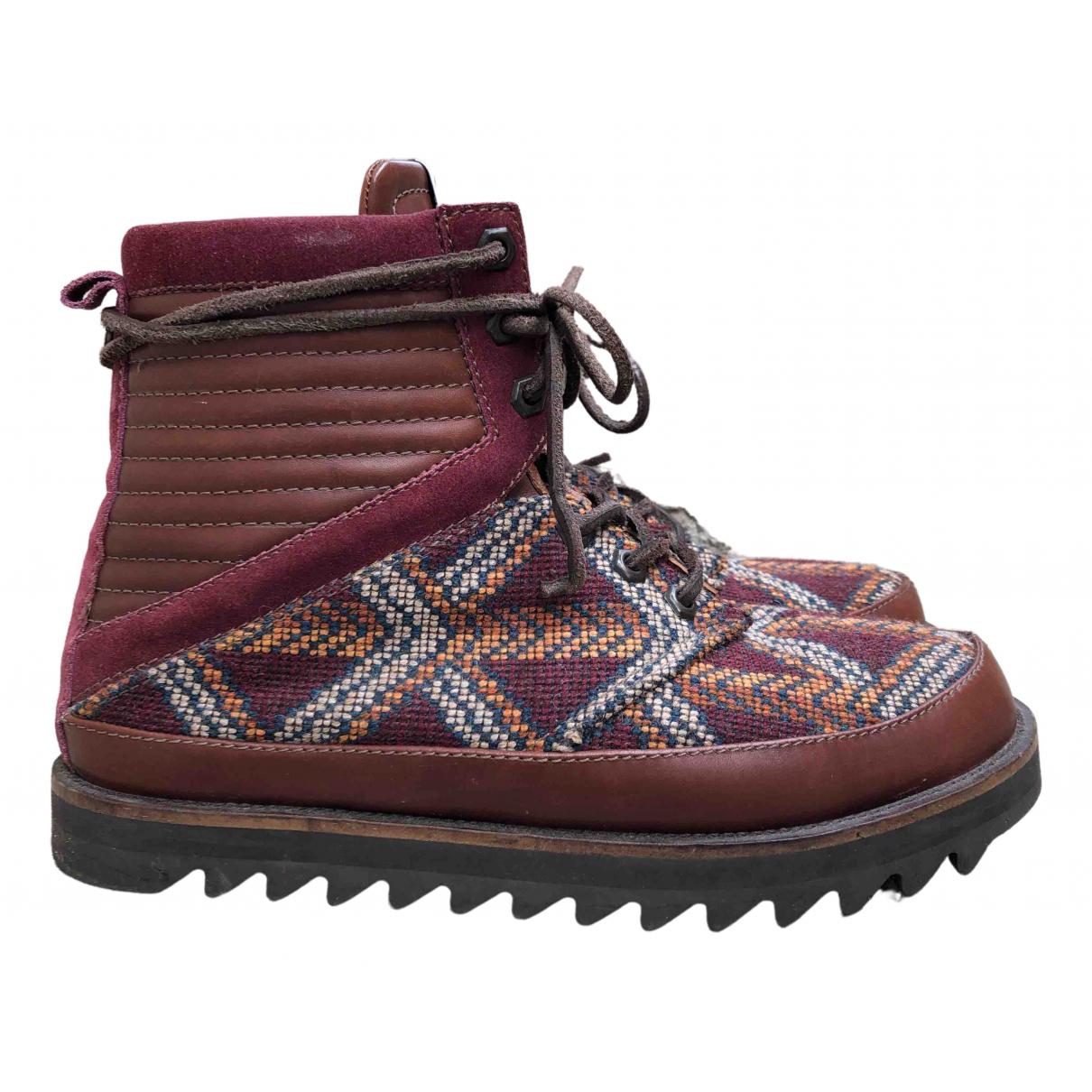 Volta Footwear \N Stiefel in  Bordeauxrot Leder