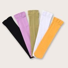 5 pares calcetines unicolor