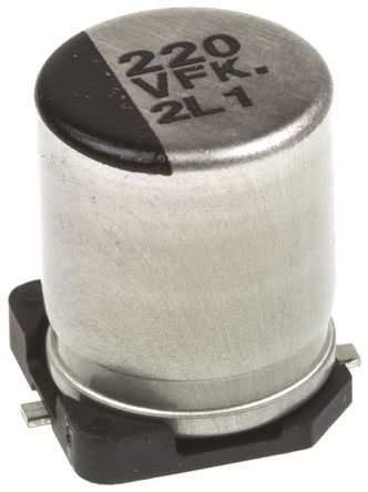 Panasonic 220μF Electrolytic Capacitor 35V dc, Surface Mount - EEEFK1V221P (5)