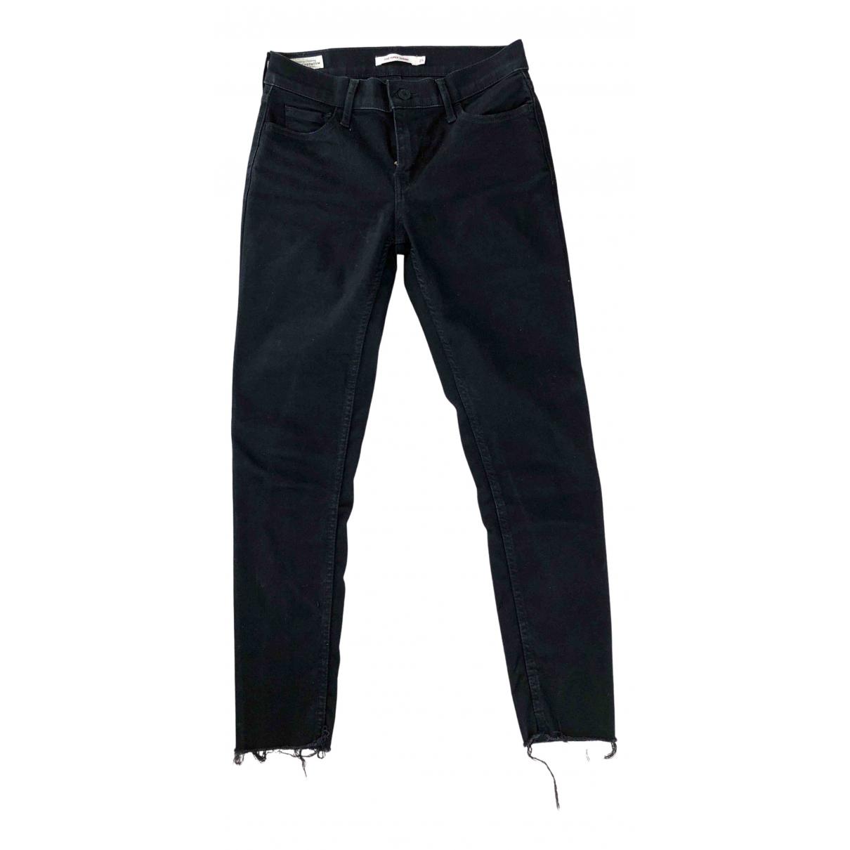 Levi's 710 Black Denim - Jeans Jeans for Women 25 US